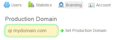 Set your desired domain name in the branding section